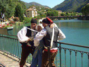 A nobleman captured along the lake
