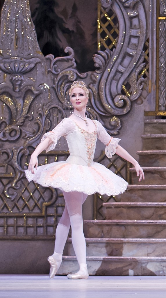 THE NUTCRACKER ; Music by Tchaikovsky ; Choreography by Wright ; Lauren Cuthbertson (as The Sugar Plum Fairy) and Cory Stearns (as The Prince) ; The Royal Ballet ; At the Royal Opera House, London, UK ; 3 December 2013 ; Credit: Tristram Kenton / Royal Opera House / ArenaPAL
