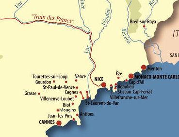 Riviera France Map