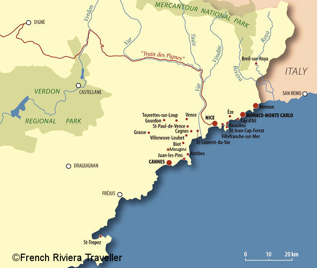 French Riviera Map