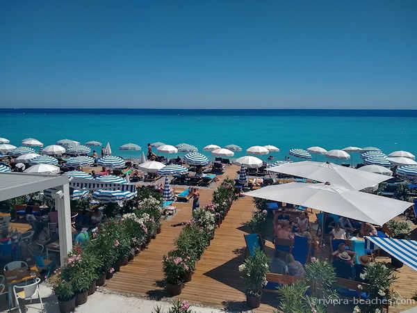 Bella Nissa beach restaurant Nice