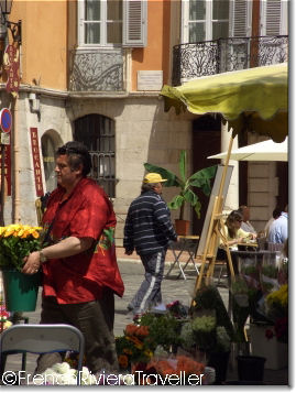Flower seller in Grasse