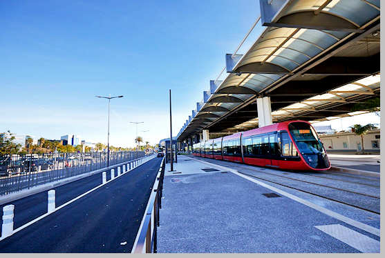 Tramway at Nice Airport