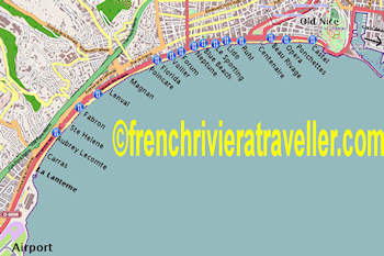 Map of Nice Beaches