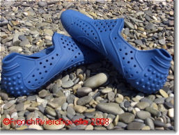 Blue rubber shoes